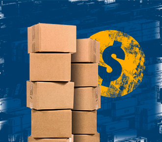 Imagem de caixas de papel empilhadas. Ilustram a gestão de suprimentos.