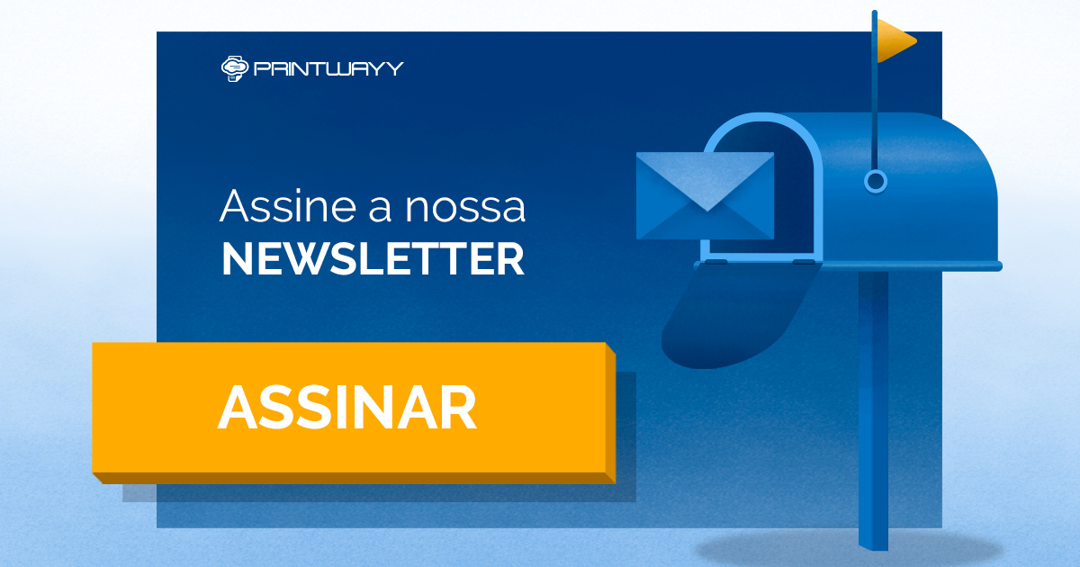 Convite para assinar a newsletter sobre outsourcing de impressão.