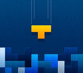 Ilustração de um jogo de tetris. Representa a integração de um software de gestão de outsourcing a um ERP.