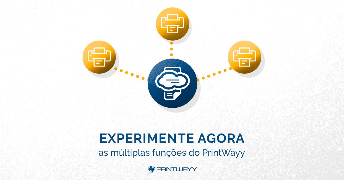 Convite para conhecer e testar o PrintWayy gratuitamente.