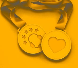 Melhadas com simbolo de coração de de fone telefônico - remetendo ao suporte telefônico de qualidade.