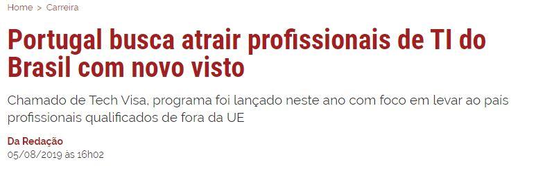 Manchetes de jornais, sites, revistas online e portais sobre o profissional de TI brasileiro.