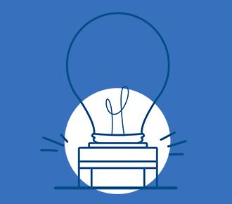 Ilustração de uma lâmpada em cima de uma impressora.