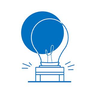 Uma impressora com o desenho de uma lâmpada e vários sinais de mais referente a parte bônus do Dossiê do outsourcing de impressão.