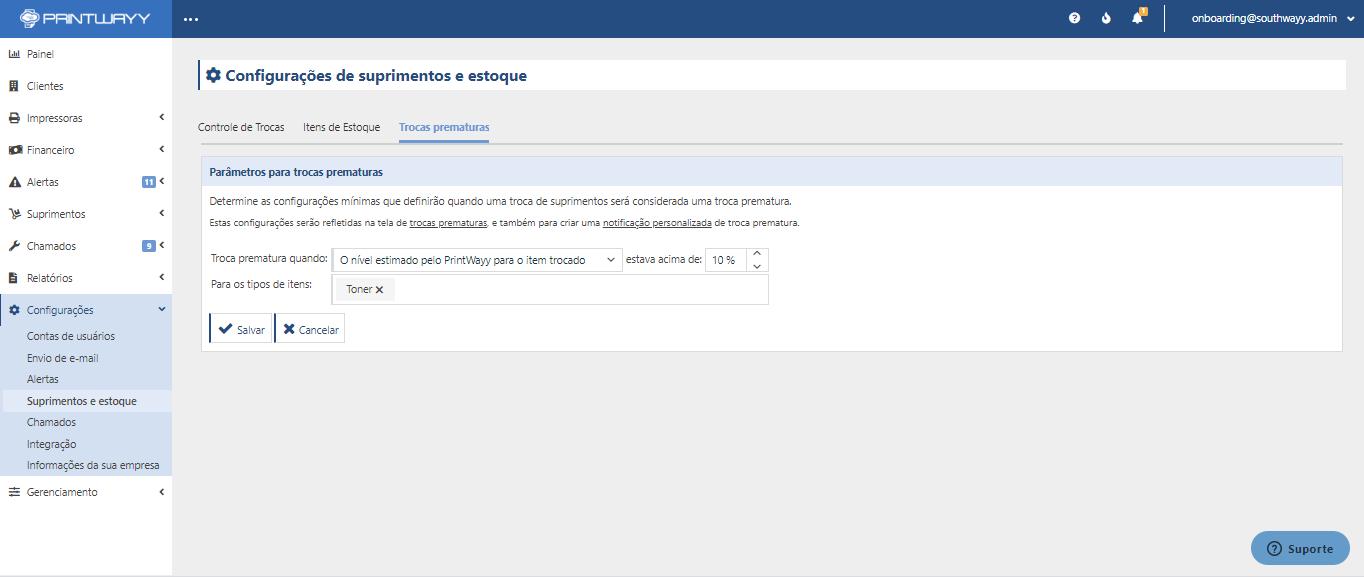 Imagem do dashboard do PrintWayy.