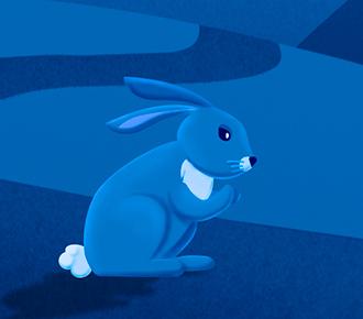 A imagem ilustra um coelho, no início de uma estrada. Simboliza o caminho a ser percorrido, que ficará facilitado com o uso das metodologias ágeis.