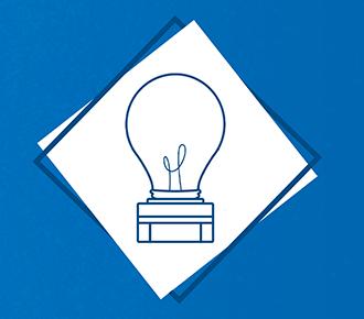 Fundo azul com uma imagem estilizada de uma lâmpada em cima de uma impressora ao lado o título do material: DOSSIÊ DO OUTSOURCING DE IMPRESSÃO.