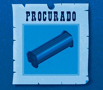 """A imagem ilustra um cartaz que diz """"Procurado"""", e logo abaixo há o desenho de um toner. Demonstrando que, sem o controle de estoque, o suprimento pode desaparecer."""